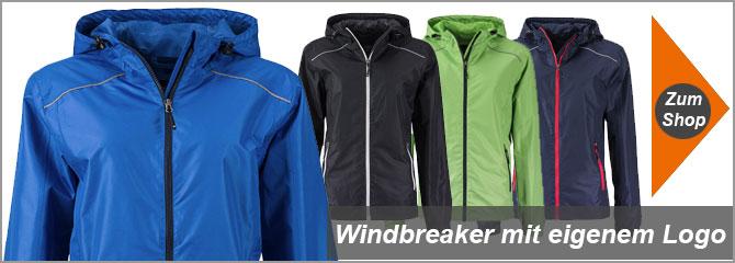 Windbreaker mit Logo